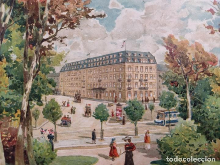 HOTEL HAUFFE-LEIPZIG-POSTAL PUBLICIDAD HOTEL-VER REVERSO-(61.517) (Postales - Postales Temáticas - Hoteles y Balnearios)