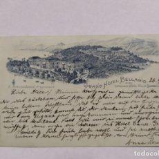 Postales: GRAND HOTEL BELLAGIO-CIRCULADA 1895-REVERSO SIN DIVIDIR-POSTAL PUBLICIDAD HOTEL-VER REVERSO-(61.519). Lote 174102129