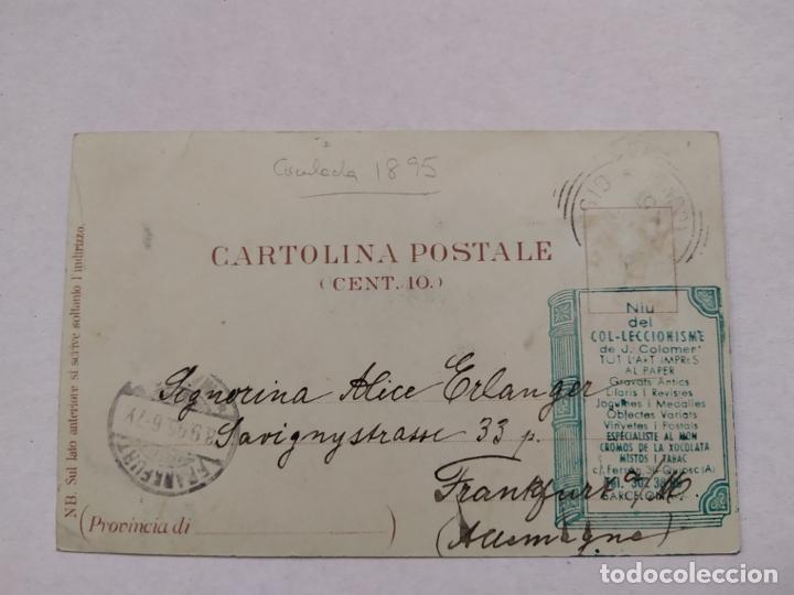Postales: GRAND HOTEL BELLAGIO-CIRCULADA 1895-REVERSO SIN DIVIDIR-POSTAL PUBLICIDAD HOTEL-VER REVERSO-(61.519) - Foto 3 - 174102129