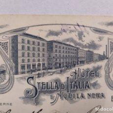 Postales: HOTEL STELLA D'ITALIA-BOLOGNA-POSTAL PUBLICIDAD HOTEL-VER REVERSO-(61.520). Lote 174102169