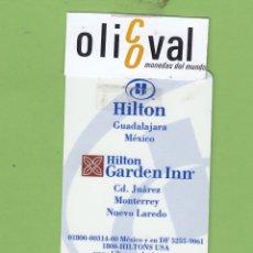 Postales: TARJETA HOTEL H HILTON GARDEN INN GUADALAJARA MEXICO CD.JUAREZ..CSB TH098. Lote 175521589