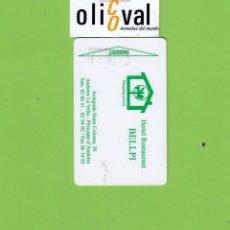 Postales: TARJETA HOTEL. BELLPI ANDORRA LA VELLA ANDORRA ESCASA EN ESTOS MOMENTOS P/I TAHER CARD TH173. Lote 176211905
