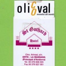 Postales: TARJETA HOTEL ST.GOTHARD ERTS ANDORRA TESA DUMON TH 202. Lote 176422083