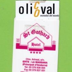 Postales: TARJETA HOTEL ST.GOTHARD ERTS ANDORRA S/PI TH 203. Lote 176422182