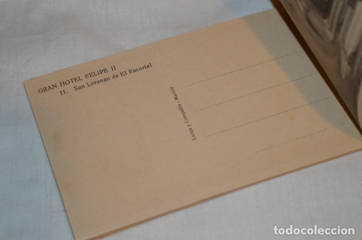 Postales: HUSA GRAN HOTEL FELIPE II - San Lorenzo de El Escorial - Bloc Completo 12 postales antiguas ¡Mira! - Foto 15 - 176596184