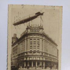 Postales: MADRID-EL GRAN ZEPPELIN SOBRE EL HOTEL NACIONAL-EDICION HOTEL NACIONAL-VER REVERSO-(63.021). Lote 179329267