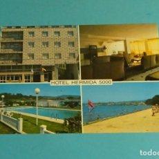 Postales: POSTAL HOTEL HERMIDA 5000. VILANOVA DE AROUSA. PONTEVEDRA. Lote 180188665