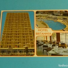 Postales: POSTAL HOTEL BRITANNIA. BENIDORM. ALICANTE. Lote 180188777