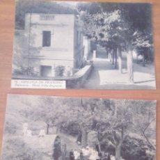 Postales: POSTALES B/N ESPLUGA DE FRANCOLÍ. BALNEARIO HOTEL VILLA ENGRACIA FONT DEL MICO. ROISIN. SIN ESCRIBIR. Lote 180237983