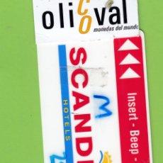 Postales: TARJETA HOTEL M SCANDIC OSLO SUECIA TIMELOX SWEDEN TH629. Lote 182032728