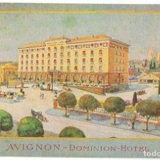 Postales: POSTAL AVIGNON DOMINION HOTEL . Lote 182487326