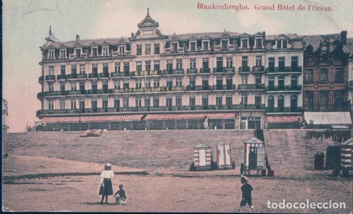 BLANKENBERGHE , GRAN HOTEL DE I OCEAN BELGICA (Postales - Postales Temáticas - Hoteles y Balnearios)