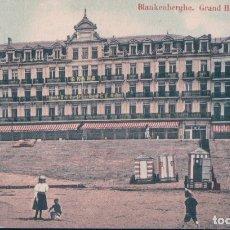 Postales: BLANKENBERGHE , GRAN HOTEL DE I OCEAN BELGICA. Lote 182708378