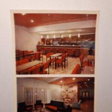 Postales: ROSES. HOTEL MEDITERRANEO. SALÓN Y BAR. POSTAL 1964. Lote 183424785