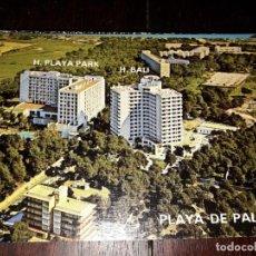 Postales: Nº 34109 POSTAL PLAYA DE PALMA MALLORCA HOTEL PLAYA PARK HOTEL BALI. Lote 188700976