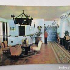 Cartes Postales: VILLAJOYOSA, ALICANTE, POSTAL HOTEL EL MONTIBOLI, RECEPCION. Lote 189606612