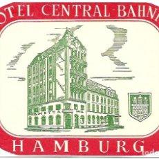 Postales: COLECCIÓN DE 9 POSTALES CON ANTIGUAS ETIQUETAS DE HOTELES DE EUROPA. Lote 190591368