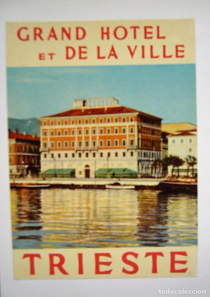 Postales: COLECCIÓN DE 9 POSTALES CON ANTIGUAS ETIQUETAS DE HOTELES DE EUROPA - Foto 5 - 190591368
