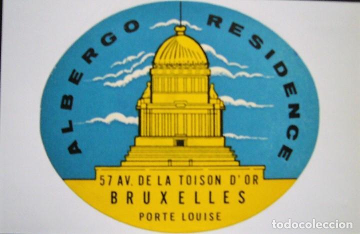 Postales: COLECCIÓN DE 9 POSTALES CON ANTIGUAS ETIQUETAS DE HOTELES DE EUROPA - Foto 6 - 190591368
