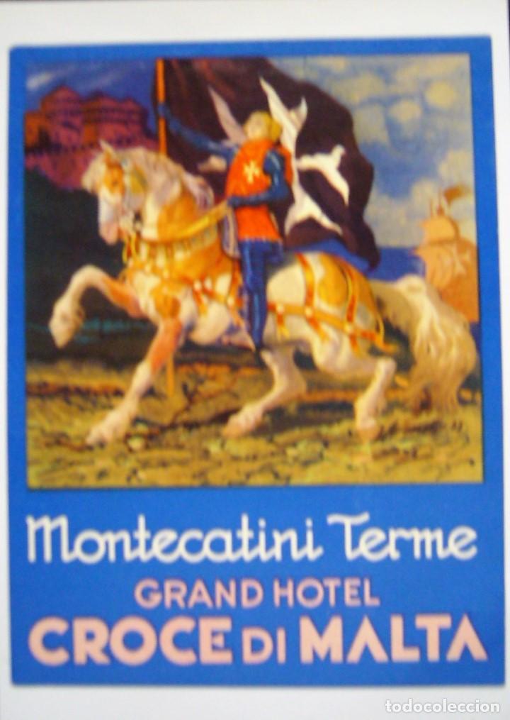Postales: COLECCIÓN DE 9 POSTALES CON ANTIGUAS ETIQUETAS DE HOTELES DE EUROPA - Foto 7 - 190591368
