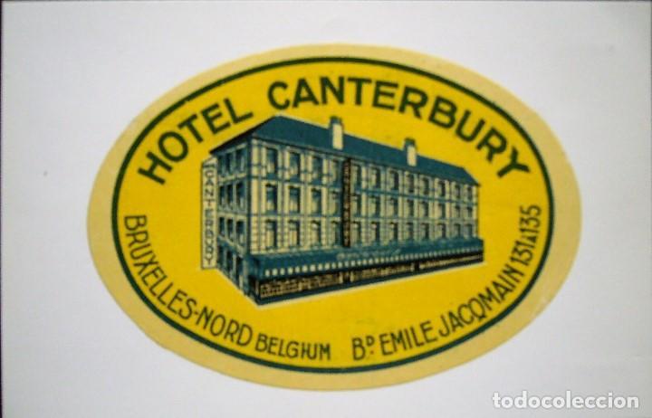 Postales: COLECCIÓN DE 9 POSTALES CON ANTIGUAS ETIQUETAS DE HOTELES DE EUROPA - Foto 8 - 190591368