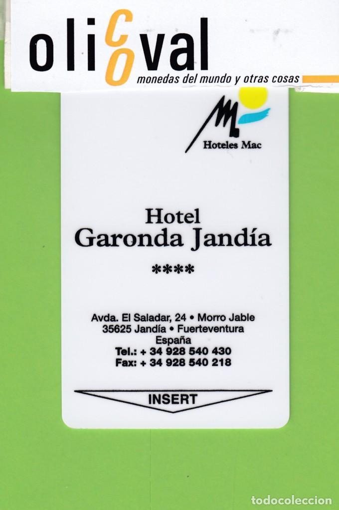 TARJETA HOTEL ESPAÑA ISLAS CANARIAS FUERTEVENTURA JANDIA MAC HOTELES GARONDA JANDIA **** TH1740 (Postales - Postales Temáticas - Hoteles y Balnearios)