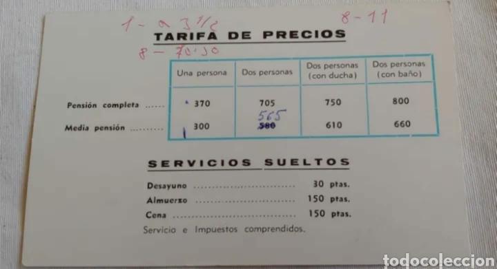 Postales: Antigua tarjeta hotel Aragón Madrid - Foto 2 - 191595211