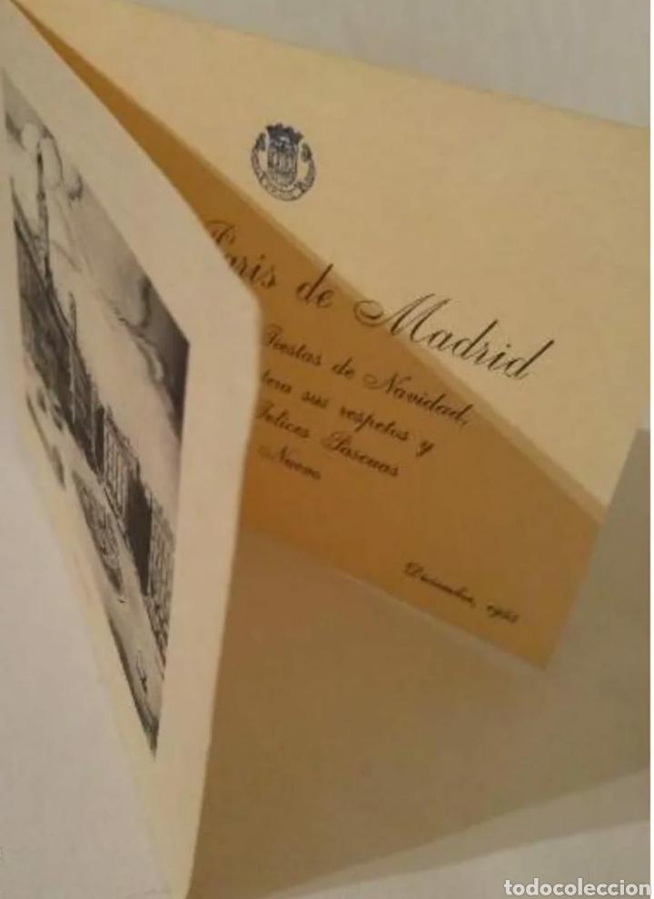 Postales: Hotel París Madrid felicitación Navidad y Año Nuevo 1955 - Foto 3 - 192153570