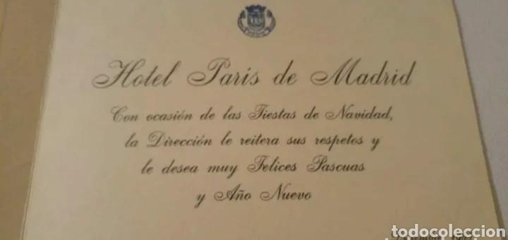 Postales: Hotel París Madrid felicitación Navidad y Año Nuevo 1955 - Foto 4 - 192153570
