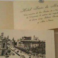 Postales: HOTEL PARÍS MADRID FELICITACIÓN NAVIDAD Y AÑO NUEVO 1955. Lote 192153570