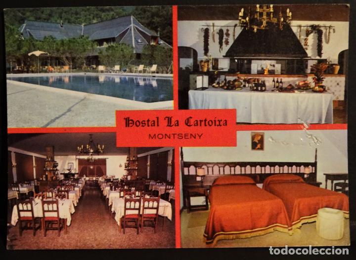HOSTAL LA CARTOIXA, CARRETERA DE PALAUTORDERA A MONTSENY, POSTAL SIN CIRCULAR DEL AÑO 1983 (Postales - Postales Temáticas - Hoteles y Balnearios)