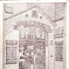 Postales: BARCELONA. MESÓN DEL CAFÉ. EXPLICACIÓN AL DORSO.. Lote 194985648