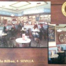 Postales: SEVILLA. CAFÉ DE INDIAS. NUEVA. COLOR. Lote 194985706