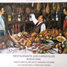 Postales: BARCELONA. RESTAURANTE LOS CARACOLES. NUEVA. COLOR. Lote 194985736