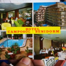 Postales: POSTAL HOTEL CAMPOSOL BENIDORM RUECK. Lote 195022215