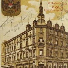 Postales: HOTEL RESTAURANT PARISER HOF-WILHELM KRAUS-KÖLN-ALEMANIA-POSTAL ANTIGUA-(68.345). Lote 195882491