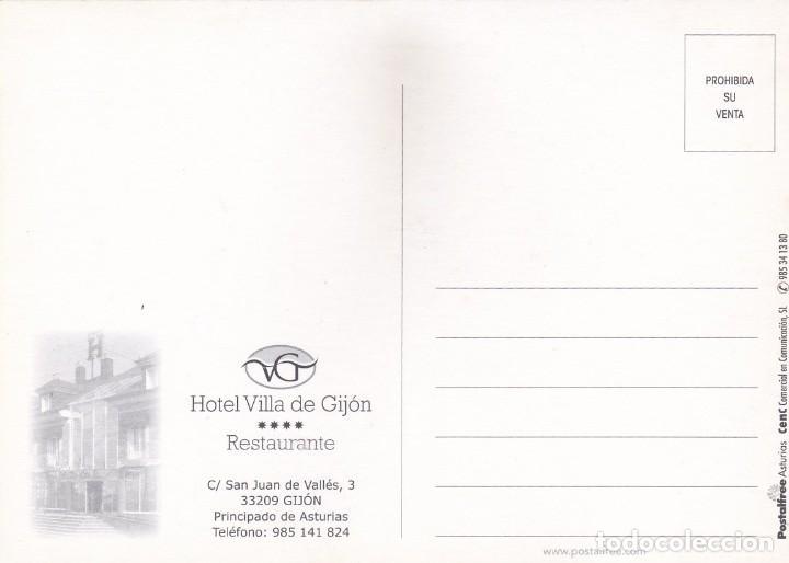 Postales: POSTAL HOTEL VILLA DE GIJON - POSTALFREE - Foto 2 - 196390122