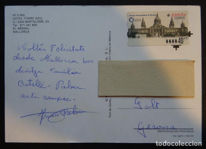 Postales: Hotel Torre Azul , El Arenal, Mallorca, antigua postal circulada - Foto 2 - 197351045