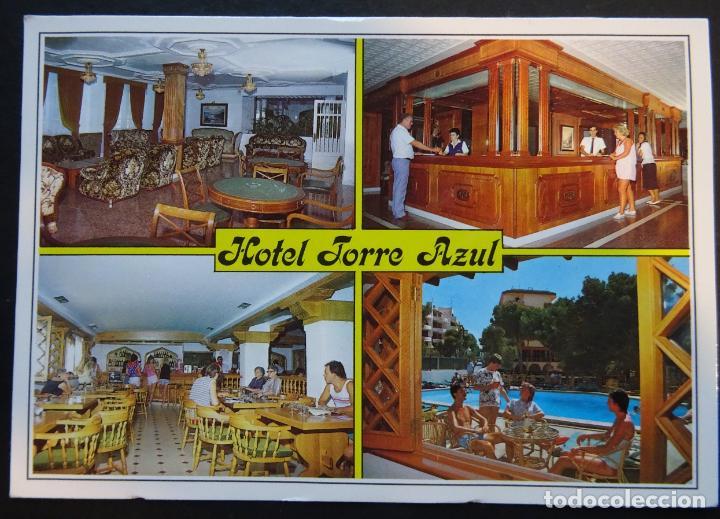 HOTEL TORRE AZUL , EL ARENAL, MALLORCA, ANTIGUA POSTAL CIRCULADA (Postales - Postales Temáticas - Hoteles y Balnearios)