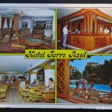 Postales: HOTEL TORRE AZUL , EL ARENAL, MALLORCA, ANTIGUA POSTAL CIRCULADA. Lote 197351045