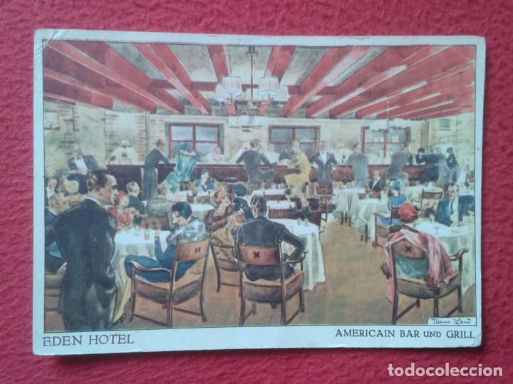 POSTAL ALEMANIA EDEN HOTEL AMERICAIN BAR UN GRILL BERLIN W MODERNSTES LUXUSHOTEL IM WESTERN BERLINS (Postales - Postales Temáticas - Hoteles y Balnearios)