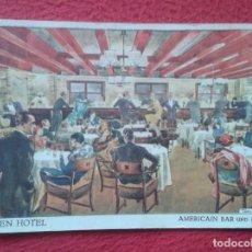 Postales: POSTAL ALEMANIA EDEN HOTEL AMERICAIN BAR UN GRILL BERLIN W MODERNSTES LUXUSHOTEL IM WESTERN BERLINS. Lote 197406863