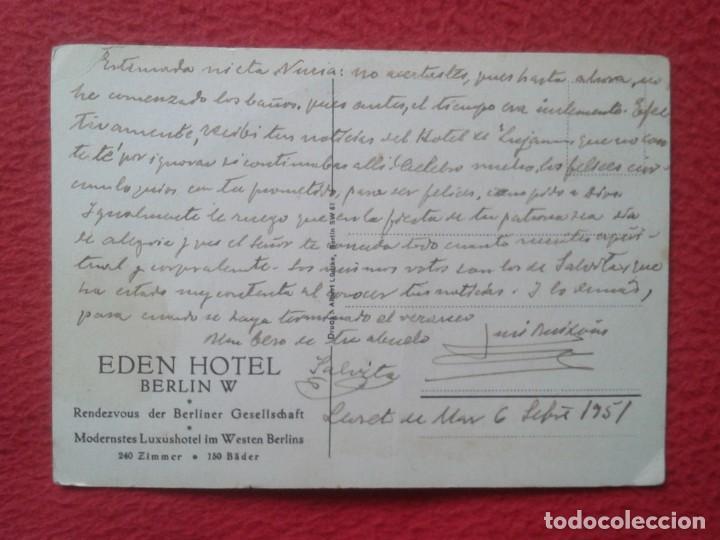Postales: POSTAL ALEMANIA EDEN HOTEL AMERICAIN BAR UN GRILL BERLIN W MODERNSTES LUXUSHOTEL IM WESTERN BERLINS - Foto 2 - 197406863
