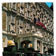 Postales: POSTAL POST CARD FRANCIA FRANCE CANNES AU SOLEIR DE LA COTE D´AZUR LE CARLTON HOTEL ? ROLLS ROYCE ? . Lote 197810992