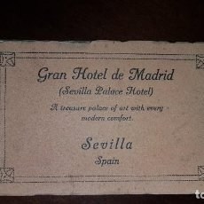 Postales: BLOCK POSTALES GRAN HOTEL DE MADRID (SEVILLA PALACE HOTEL). Lote 198251080
