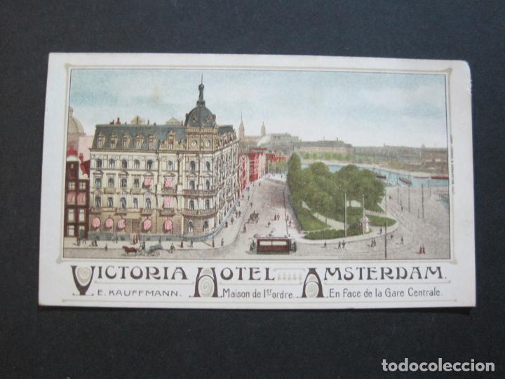 Postales: HOLANDA-ASMTERDAM-VICTORIA HOTEL-TARJETA DE PUBLICIDAD ANTIGUA-VER FOTOS-(V-20.171) - Foto 2 - 205039417