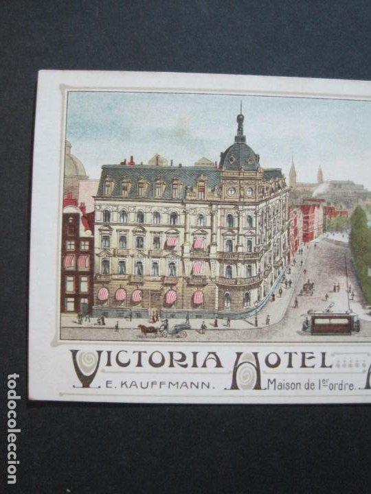 Postales: HOLANDA-ASMTERDAM-VICTORIA HOTEL-TARJETA DE PUBLICIDAD ANTIGUA-VER FOTOS-(V-20.171) - Foto 3 - 205039417