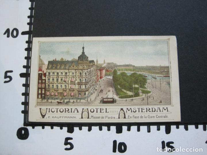 Postales: HOLANDA-ASMTERDAM-VICTORIA HOTEL-TARJETA DE PUBLICIDAD ANTIGUA-VER FOTOS-(V-20.171) - Foto 8 - 205039417