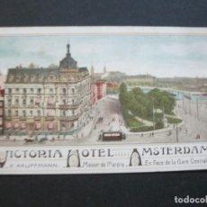 Postales: HOLANDA-ASMTERDAM-VICTORIA HOTEL-TARJETA DE PUBLICIDAD ANTIGUA-VER FOTOS-(V-20.171). Lote 205039417