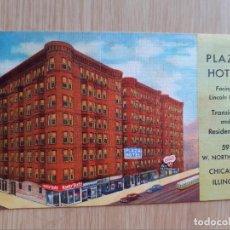 Postales: TARJETA POSTAL - HOTEL PLAZA - CHICAGO ILLINOIS. Lote 206449823